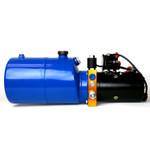 TEMCo HP0010 12V DC Hydraulic Power Unit/Dump Trailer Pump 6 Qt Power up/Gravity Down (Single Acting)