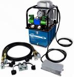 Electric Hydraulic Pump Power Pack Unit 2 Stage Double Acting, 120v