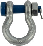 """1/2"""" 2 TON D Ring Shackle Screw Pin Clevis Safety Bolt G2130 Style"""