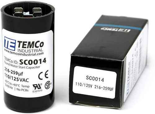 216-259 MFD uF Electric Motor Start Capacitor 110-125V - 125 volt
