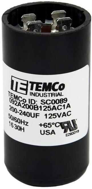 200-240 MFD uF Electric Motor Start Capacitor 110-125V - 125 volt