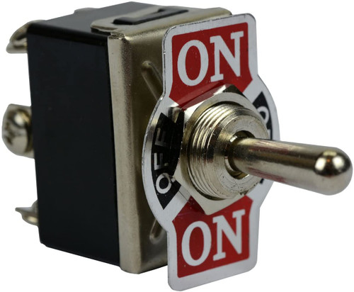 Heavy Duty 20A 125V (ON)-OFF-(ON) DPDT 6 Terminal Momentary 2 SIDE Toggle Switch