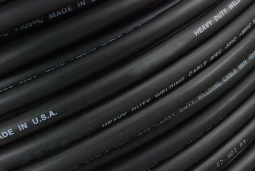 TEMCo WC0015 Welding Cable - 1/0 AWG 20 ft - Black