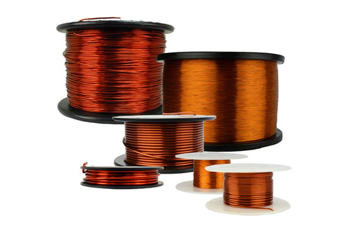 12 AWG Copper Magnet Wire MW0114 - 4 oz Magnetic Coil Amber GP/MR-200
