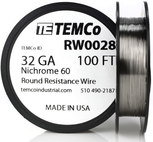 32 AWG 100 ft Nichrome 60 resistance wire.