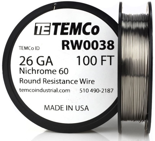 26 AWG 100 ft Nichrome 60 resistance wire.