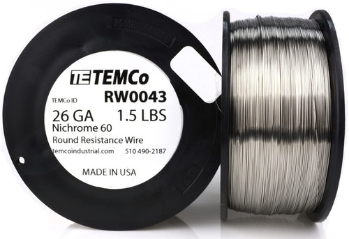 26 AWG 1.5 lb Nichrome 60 resistance wire.