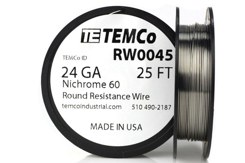 24 AWG 25 ft Nichrome 60 resistance wire.