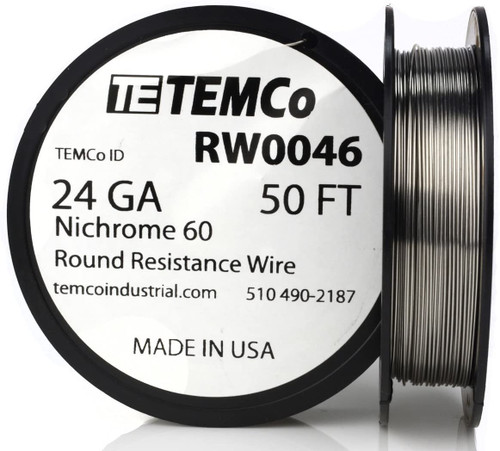24 AWG 50 ft Nichrome 60 resistance wire.