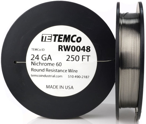 24 AWG 250 ft Nichrome 60 resistance wire.