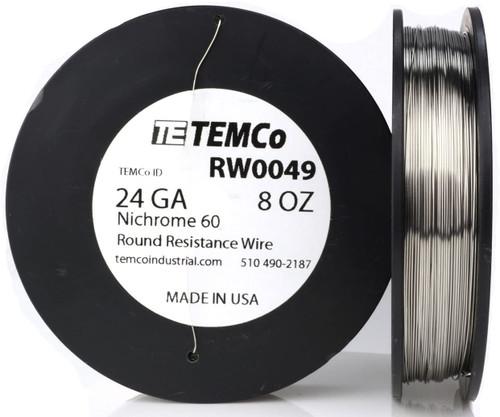 24 AWG 8 oz Nichrome 60 resistance wire.