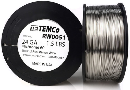 24 AWG 1.5 lb Nichrome 60 resistance wire.