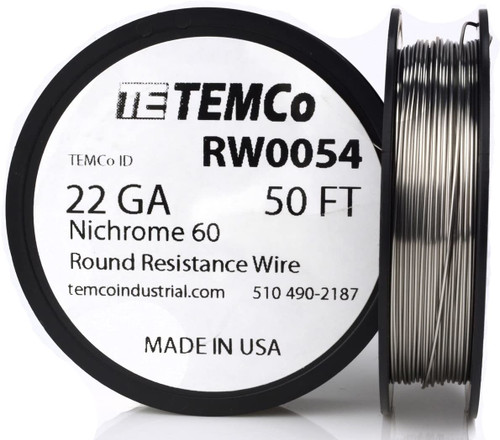 22 AWG 50 ft Nichrome 60 resistance wire.