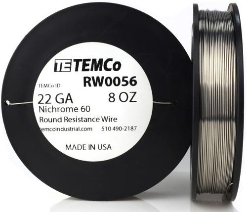 22 AWG 8 oz Nichrome 60 resistance wire.