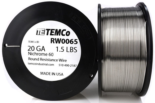 20 AWG 1.5 lb Nichrome 60 resistance wire.