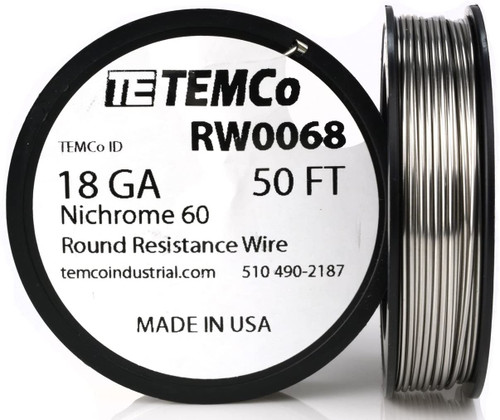 18 AWG 50 ft Nichrome 60 resistance wire.