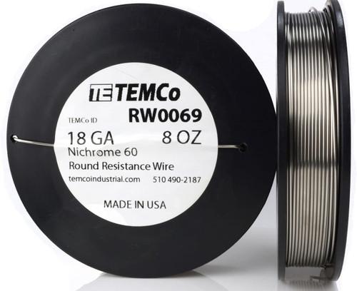 18 AWG 8 oz Nichrome 60 resistance wire.