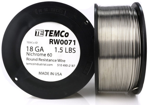 18 AWG 1.5 lb Nichrome 60 resistance wire.