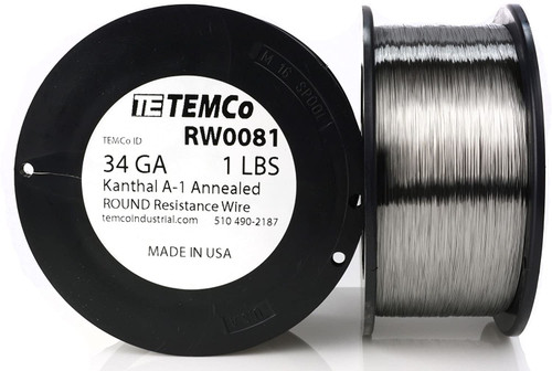 34 AWG 1 lb Kanthal A-1 round resistance wire.