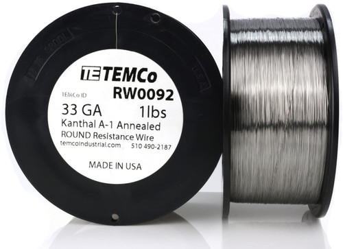 33 AWG 1 lb Kanthal A-1 round resistance wire.