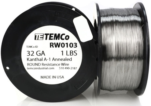 32 AWG 1 lb Kanthal A-1 round resistance wire.