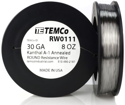 30 AWG 8 oz Kanthal A-1 round resistance wire.