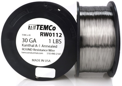 30 AWG 1 lb Kanthal A-1 round resistance wire.