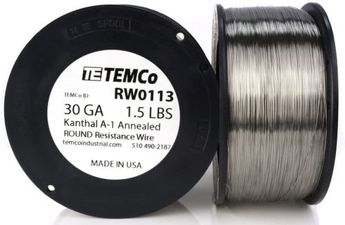 30 AWG 1.5 lb Kanthal A-1 round resistance wire.