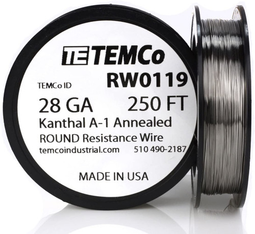28 AWG 250 ft Kanthal A-1 round resistance wire.