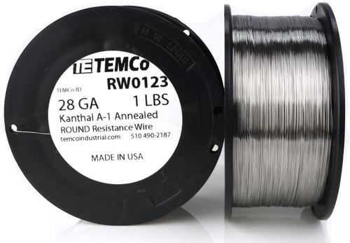 28 AWG 1 lb Kanthal A-1 round resistance wire.