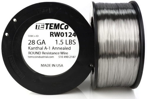 28 AWG 1.5 lb Kanthal A-1 round resistance wire.