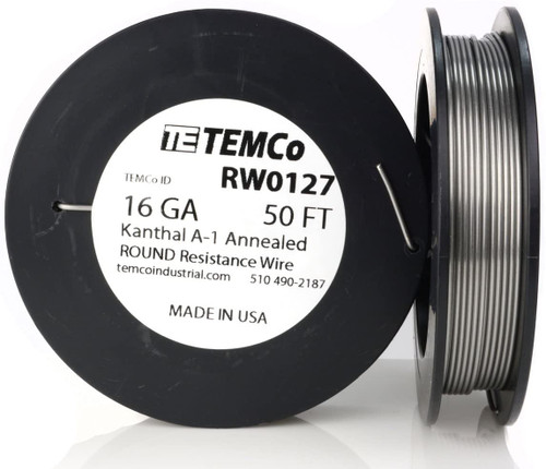 16 AWG 50 ft Kanthal A-1 round resistance wire.
