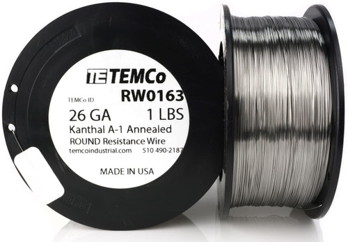 26 AWG 1 lb Kanthal A-1 round resistance wire.