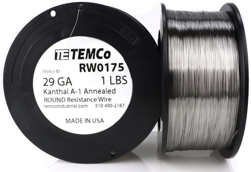 29 AWG 1 lb Kanthal A-1 round resistance wire.