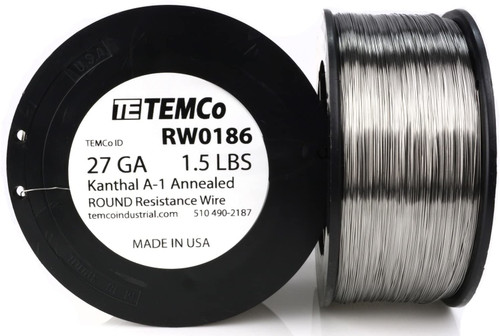 27 AWG 1.5 lb Kanthal A-1 round resistance wire.