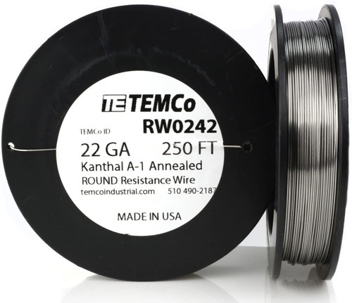 22 AWG 250 ft Kanthal A-1 round resistance wire.