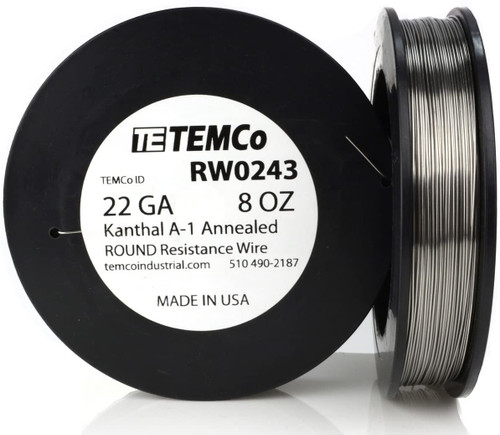 22 AWG 8 oz Kanthal A-1 round resistance wire.
