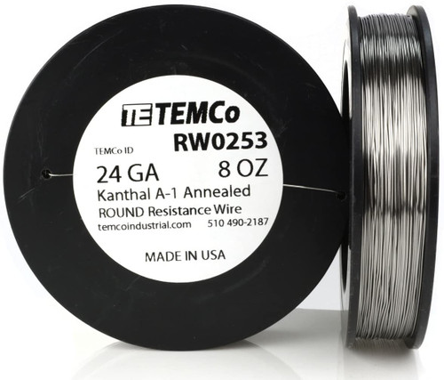 24 AWG 8 oz Kanthal A-1 round resistance wire.