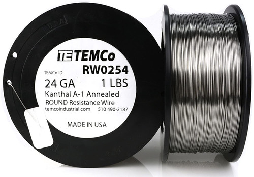 24 AWG 1 lb Kanthal A-1 round resistance wire.
