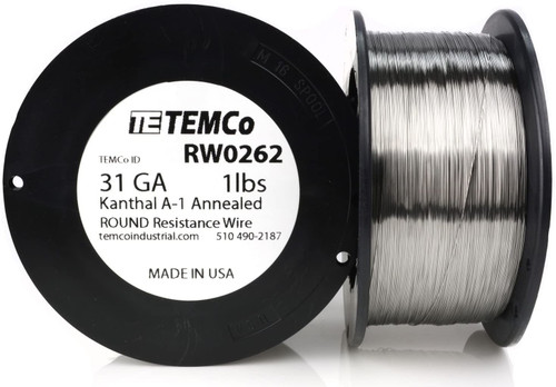 31 AWG 1 lb Kanthal A-1 round resistance wire.