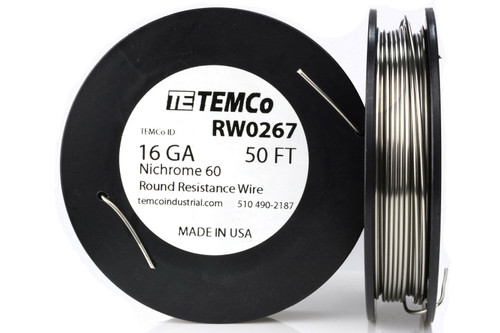 16 AWG 50 ft Nichrome 60 resistance wire.
