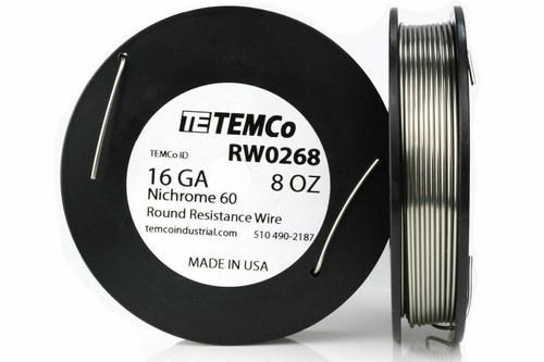 16 AWG 8 oz Nichrome 60 resistance wire.