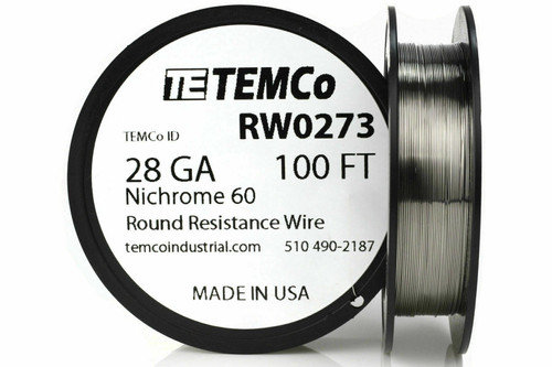 28 AWG 100 ft Nichrome 60 resistance wire.
