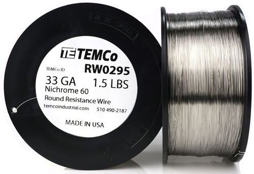 33 AWG 1.5 lb Nichrome 60 resistance wire.