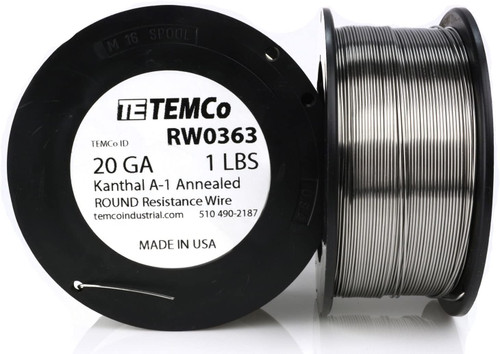 20 AWG 1 lb Kanthal A-1 round resistance wire.