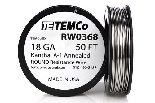 18 AWG 50 ft Kanthal A-1 round resistance wire.