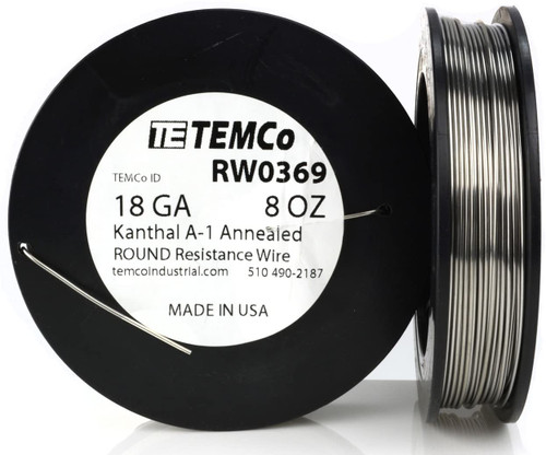 18 AWG 8 oz Kanthal A-1 round resistance wire.