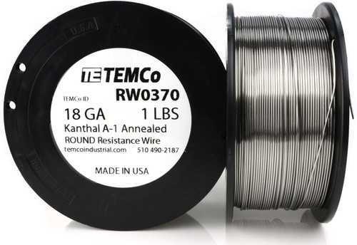 18 AWG 1 lb Kanthal A-1 round resistance wire.