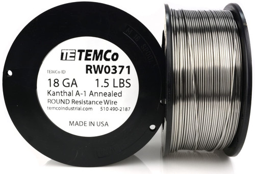 18 AWG 1.5 lb Kanthal A-1 round resistance wire.