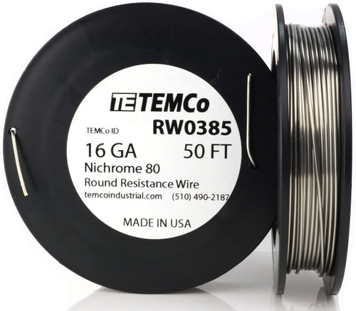 16 AWG 50 ft Nichrome 80 resistance wire.